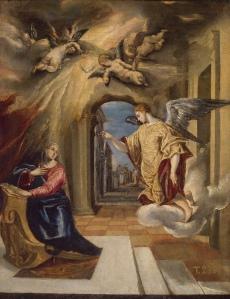 El Greco, La anunciación