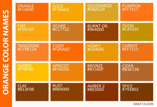 orange-color-names